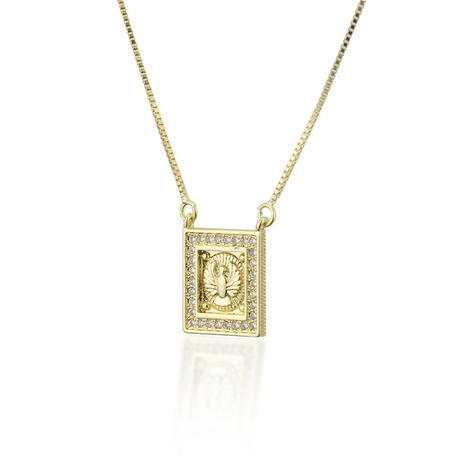 simple square fashion new copper holy bird necklace NHBP310450's discount tags