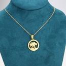 titanium steel bullshaped necklace NHBP310466