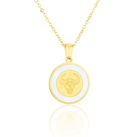 titanium steel bull head necklace  NHBP310468's discount tags
