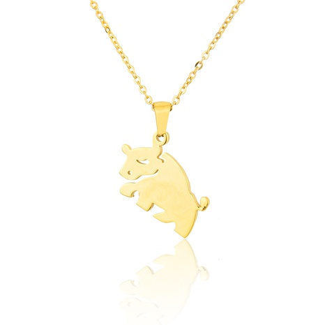 titanium steel cow necklace  NHBP310469's discount tags