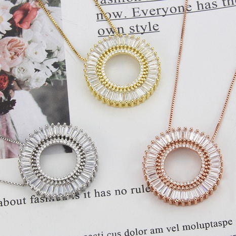 new round hollow zirconium inlaid pendant necklace NHBP310470's discount tags