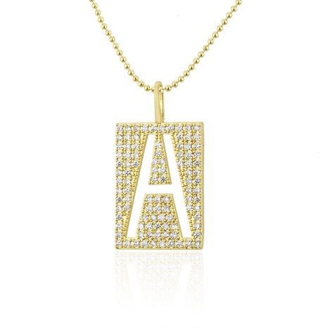 golden square 26 letter necklace NHBP310471's discount tags