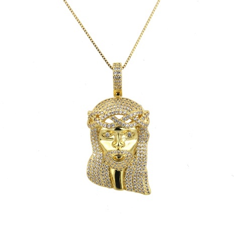 New zircon copper micro-inlaid electric rock necklace NHBP310478's discount tags