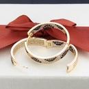zircon python print earrings NHBP310482
