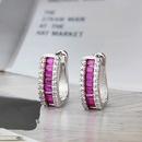 boucles d39oreilles simples en cuivre plaqu argent serti de diamants NHBP310486