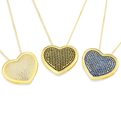 new full diamond heart-shaped necklace  NHBP310485's discount tags