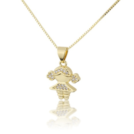 fashion new copper plating kid necklace NHBP310488's discount tags