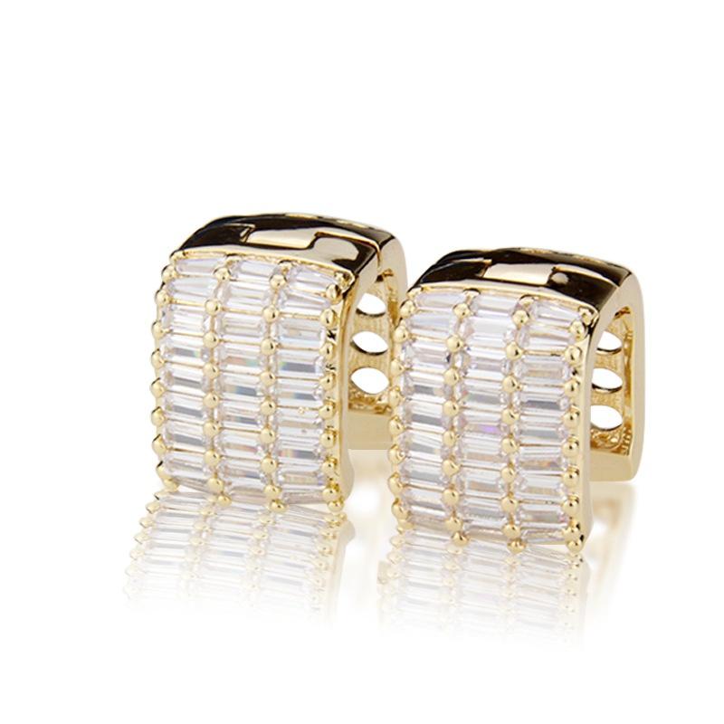 square zirconium inlaid earrings NHBP310493