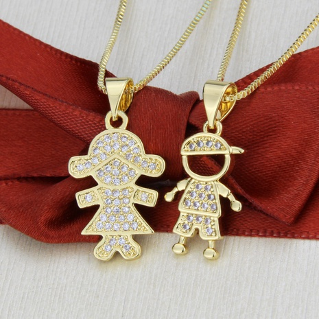 gold-plated zircon pendant color-preserving necklace NHBP310498's discount tags