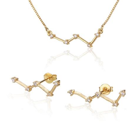 neues vergoldetes Sternbild Cassiopeia Halskette Ohrringe Set NHBP310503's discount tags