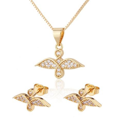 einfache eingelegte Zirkonium Vogel Halskette Ohrringe gesetzt NHBP310505's discount tags