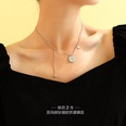 NHOK1415006-Steel-color-necklace-40+5cm