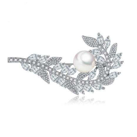 broche de perles de coquille de zircon de mode NHTM309969's discount tags