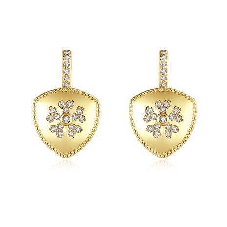 Goldene Schneeflocke Mode einfache Ohrringe NHTM309971's discount tags