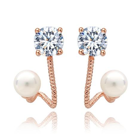 Zirkon Mode Perlen Ohrringe Großhandel NHTM309983's discount tags