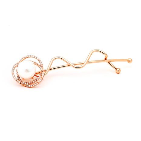 Pince à cheveux en perles de zircon en gros NHTM309993's discount tags