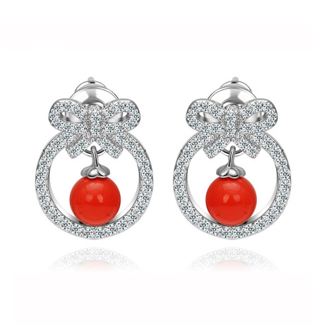 fashion bow diamond earrings wholesale NHTM310007's discount tags