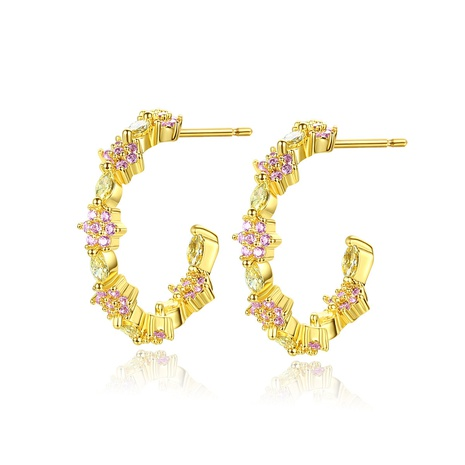 new fashion copper inlaid zircon earrings NHTM310022's discount tags