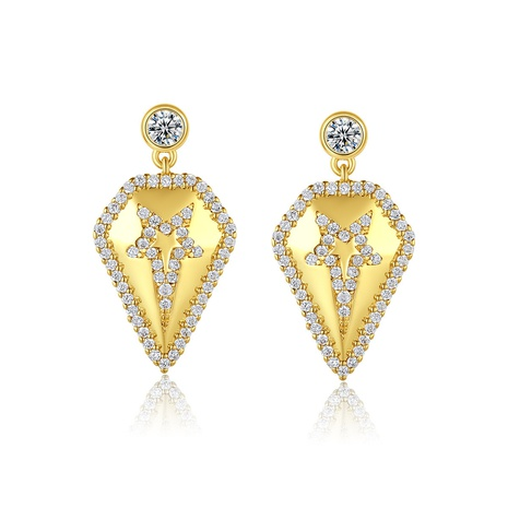 Korean fashion golden star earrings NHTM310017's discount tags