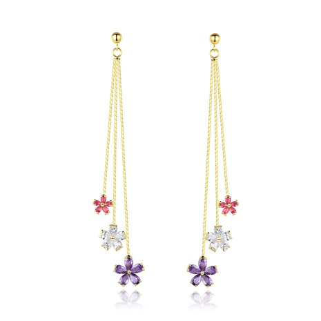 long fashion simple small flower earrings NHTM310027's discount tags