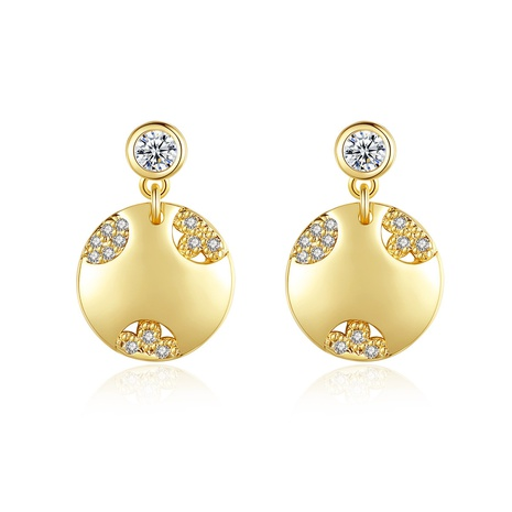 goldene Mode neue kleine Ohrringe NHTM310040's discount tags