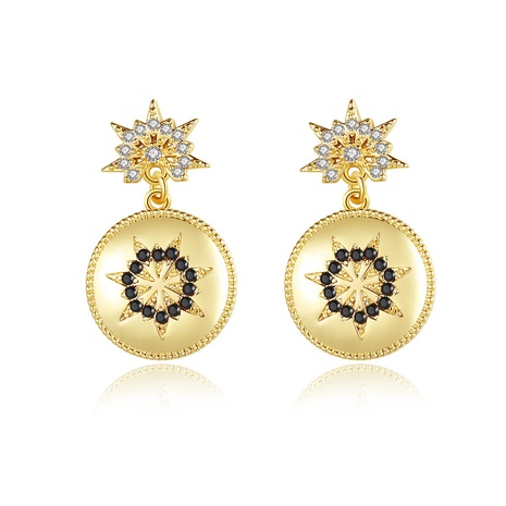 golden fashion creative sweet earrings NHTM310050's discount tags