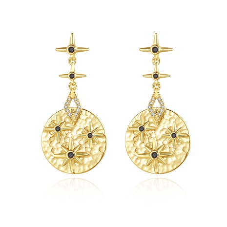 retro golden fashion earrings NHTM310056's discount tags