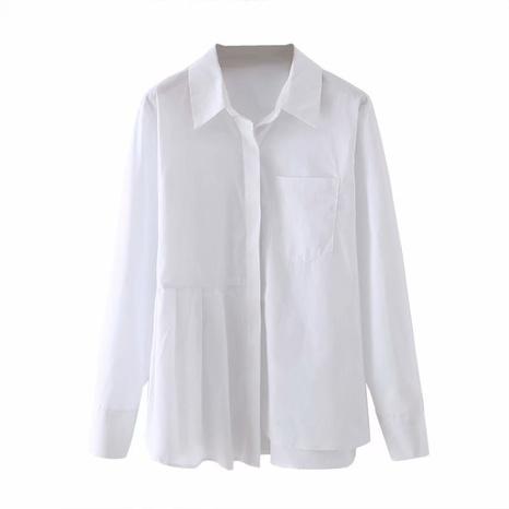 camisa blanca de moda NHAM310645's discount tags