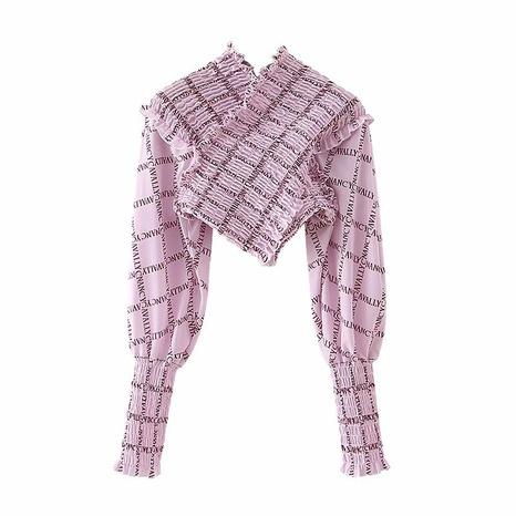 primavera nueva blusa de impresión de moda NHAM310648's discount tags