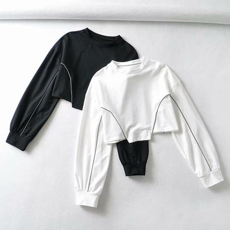 jersey corto de manga larga suelto simple nuevo NHAM310657's discount tags