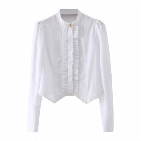 camisa de algodón blanca de moda NHAM310692's discount tags