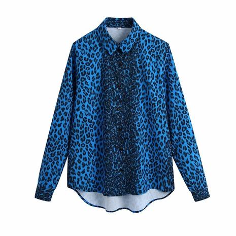 blusa con estampado de leopardo de primavera NHAM310718's discount tags