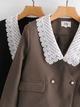 new retro lace collar short suit NHAM310726
