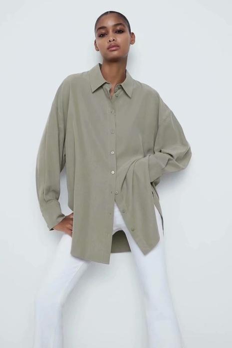 camisa casual suelta de primavera NHAM310737's discount tags
