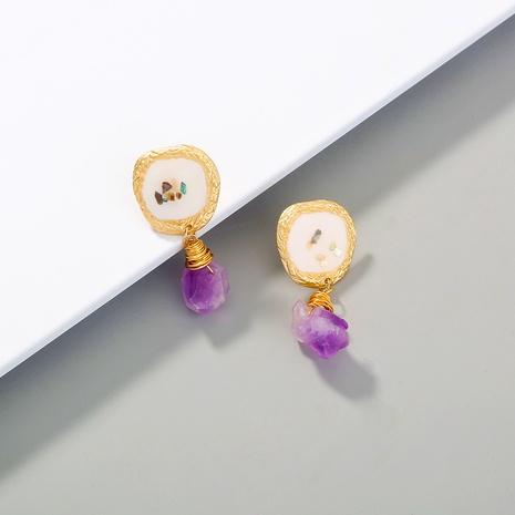 Mode Retro neue Farbe gebrochen Muschel Ohrringe NHAN310763's discount tags