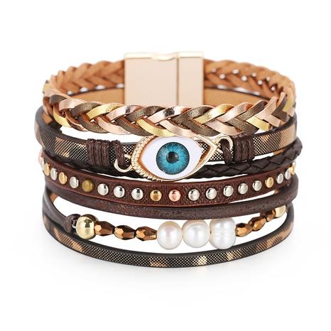 fashion Devil's Eye Pearl Bracelet NHBD310854's discount tags