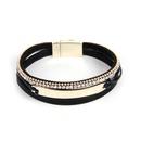 bohemian style diamond leather buckle bracelet NHBD310861