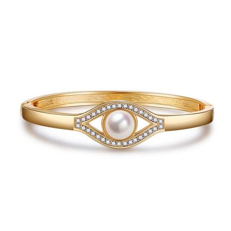 simple eye pearl diamond bracelet NHBD310859's discount tags