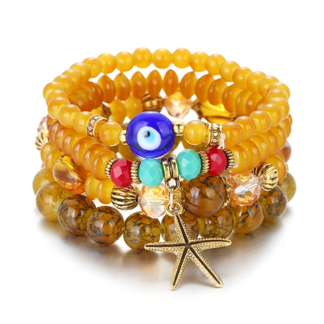 simple acrylic bohemian style multi-layer beaded bracelet  NHBD310863's discount tags