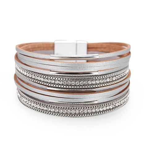 Fashion Multilayer Leather Bracelet  NHBD310877's discount tags