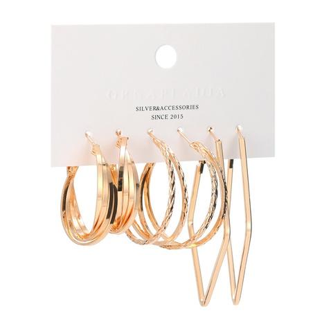 neuer großer Kreis unregelmäßige geometrische Ohrringe gesetzt NHBD310894's discount tags