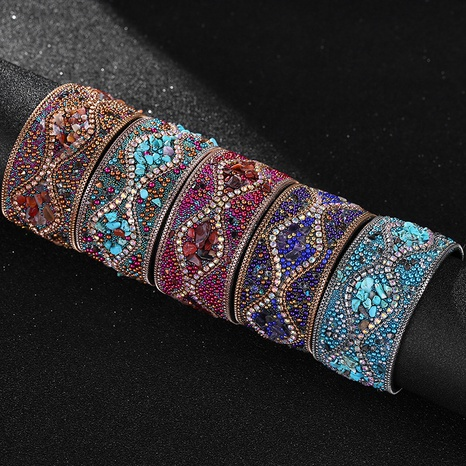 bohemian ethnic style hand-made beaded bracelet NHBD310899's discount tags