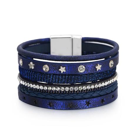 mehrschichtiges Diamantlederarmband im Bohemian-Stil NHBD310903's discount tags