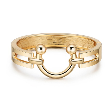 simple U-shaped Gold Plated Bracelet  NHBD310908's discount tags