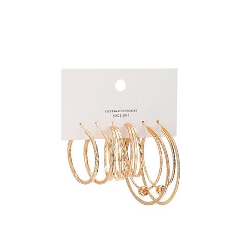 neues Set mit vergoldeten Kreisringen mit mehreren Ringen NHBD310935's discount tags