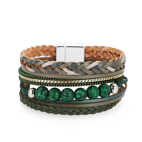 Bohemian Style Multilayer Woven Leather Bracelet NHBD310937's discount tags