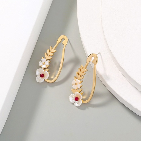 creativity flower pin earrings  NHAN310964's discount tags