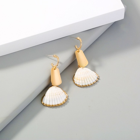 simple tassel natural shell earrings  NHAN310968's discount tags
