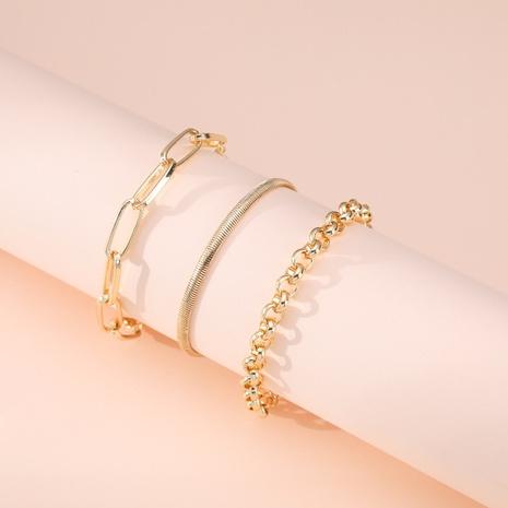 fashion buckle alloy three-piece bracelet  NHBD311080's discount tags