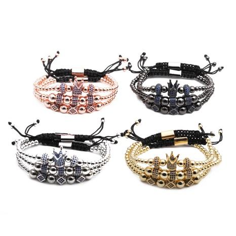 crown woven adjustable bracelet set NHYL311118's discount tags